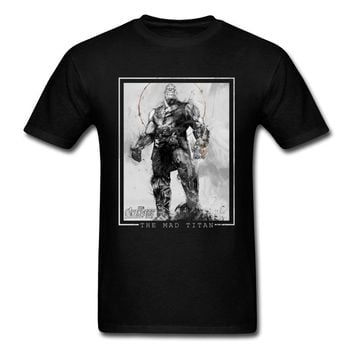Avengers Thanos T-shirt Fitted Men T Shirt O-Neck Tshirts Cotton Star Wars Mad Titan Tops Tees Casual Clothes Drop Shipping