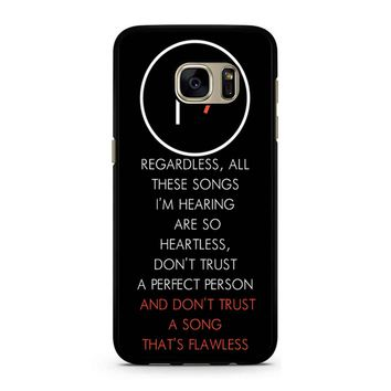 Twenty One Pilots Lane Boy Lyrics Samsung Galaxy S7 Case