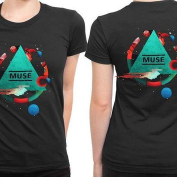 MDIG1GW Muse Poster Pyramid Tour 2 Sided Womens T Shirt