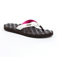 Reef Dreams Flip Flop Sandals - Brown/White