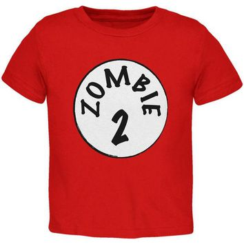 DCCKU3R Halloween Zombie 2 Two Costume Red Toddler T-Shirt