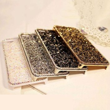 Luxury Crystal Bling Cover Case For iphone 5 5s SE Fundas High Quality Rhinestone Diamond Phone Cases For iphone 6 6s Plus Shell