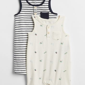 Henley Tank Shorty One-Piece (2-Pack)|gap
