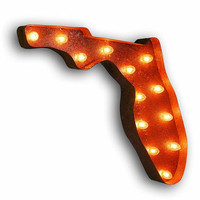 Vintage Marquee Lights - Florida