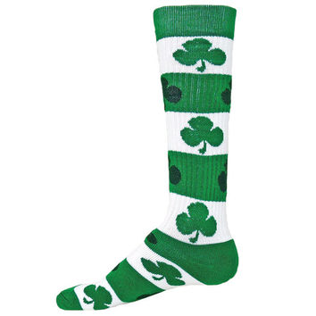 BLARNEY Shamrock Irish Athletic Novelty Socks clover green kelly St. Pattys**FREE SHIPPING**