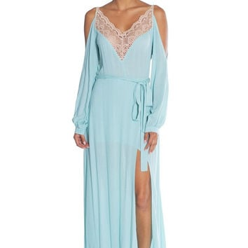 LACE SLINKY GOWN Maxi Dress - Sage