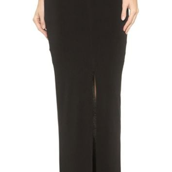 AIR by alice + olivia Front Slit Ankle Length Skirt