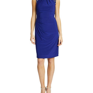 Vince Camuto Beaded Cocktail Sheath