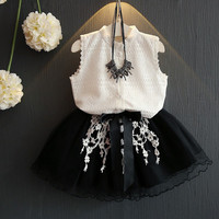 2017 Summer Baby Girl Cloth set lace blouse+skirt sets for girls children clothes tutu princess skirts baby girl clothing 2 7y-in Clothing Sets from Mother & Kids on Aliexpress.com | Alibaba Group