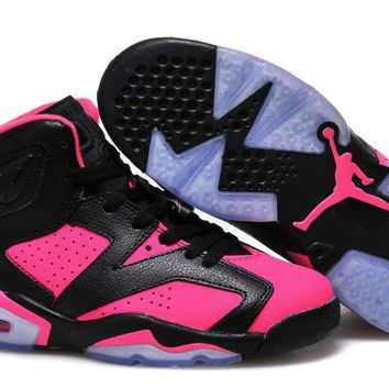 Air Jordan Retro 6 Gs Black Pink In Womens Size Online Jordan 6 Black Pink - Beauty Ticks
