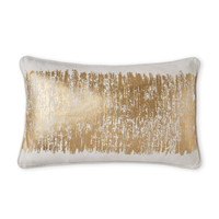 SARO HOME Gold Shimmer Agatha Pillow
