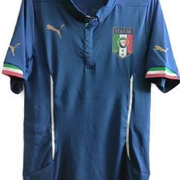 sale puma italy home soccer jersey italia football shirt msrp usd 180 size xl free u  number 1