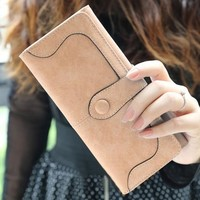 Fashion Women Matte Foldable Organizer Wallet Card Holder Long Purse