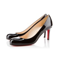 Best Online Sale Christian Louboutin Cl Simple Pump Black Patent Leather 70mm Stiletto Heel Classic