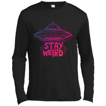 2273e9db0e45 Stay Weird - Pastel Goth Aesthetic - Vaporwave Alien Long Sleev