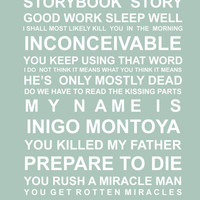 Princess Bride quotes - A5 Subway Wall Art Print
