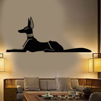 Vinyl Wall Decal Egyptian God Anubis Ancient Egypt Stickers Unique Gift (2099ig)