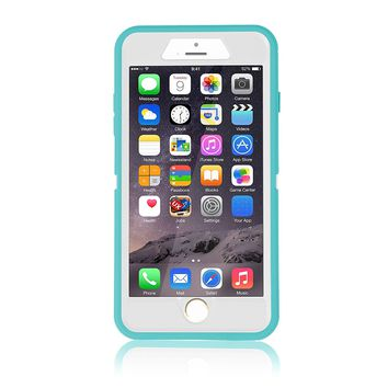 "iPhone 7+/8+ Case, [HEAVY DUTY] Defender Armor 3 in 1 Built-in Screen Protector Rugged Cover Dust-Proof Shockproof Drop-Proof Scratch-resistant Shell for Apple iPhone 7Plus/8 Plus 5.5""-Blue/White"