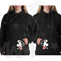 LGBT Lesbian Matching Minnie Mouse Kiss Couple Shirts, Any Style, Hers design on back, Disney Vacation, Free Shipping, Rush My Order, 309