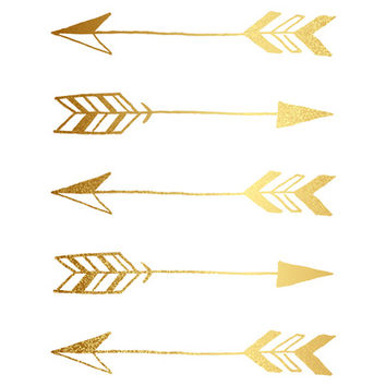 Faux gold foil arrows Art Print by Jaclyn Rose Design | Society6
