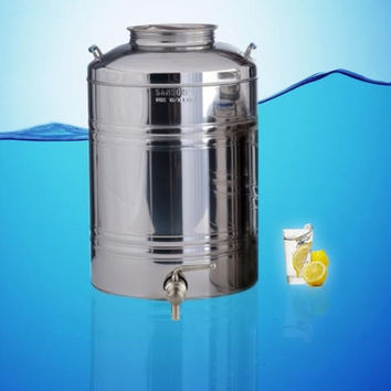 Sansone Stainless Steel Water Dispenser Fusti 100 Liter 26.4 Gal
