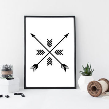Black Arrow Print, Arrow Wall Art, Black and White Wall Art, Arrow Wall Prints, Black Arrows, Wall Art, Printable, Instant Download *143*