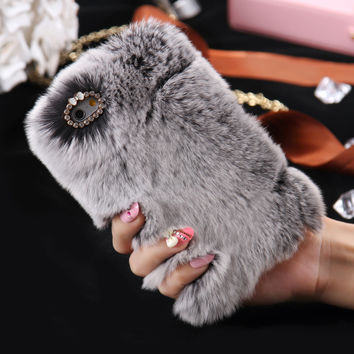 For iPhone6 Soft Smooth Touch Fur Case for Apple iPhone 6 6S Shockproof Protective Back Cute Women Girl Lady Cover Accessories