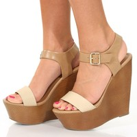 Get Your Tan On Wedges: Tan/Ivory - Shoes
