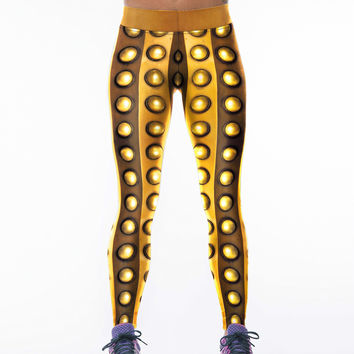 Stylish Gold Print Yoga Pants Sportswear [6049064641]