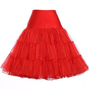 Women's Petticoat Skirts Tutu Swing Skirt Underskirts Rock Dance Party Ballet Skirt Petticoat 9 Colors