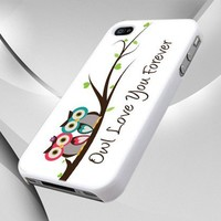 Cute White Owl Love You Forever design for iPhone 4 or 4s