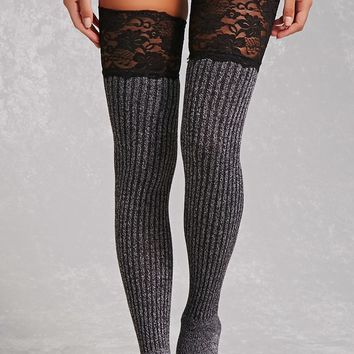 Lace Thigh-High Tights