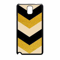 Chevron Classy Black And Gold Printed Samsung Galaxy Note 3 Case
