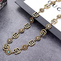 GUCCI  New fashion more letter floral retro necklace women