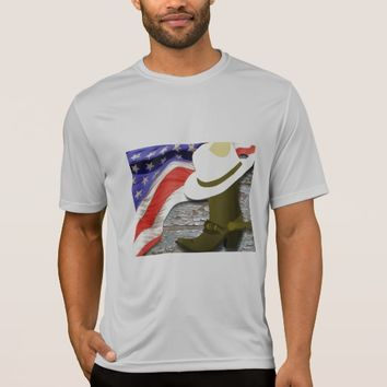 Men's Patriotic Cowboy T-shirt