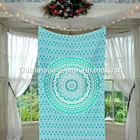 beautiful Twin Ombre Mandala Tapestry, Mandala Tapestry Wall Hanging, Psychedelic Wall Art, Dorm Décor Beach Throw