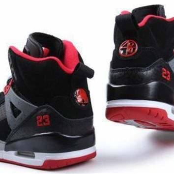 Cheap Air Jordan 3.5 Spizike Suede Men Shoes Black Red
