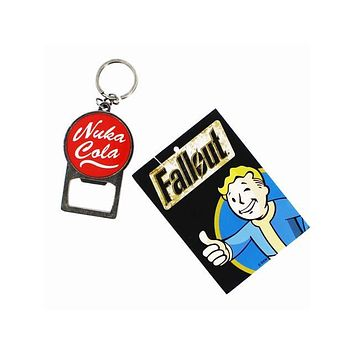 Fallout Nuka Cola Bottle Opener Keychain