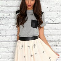 Missguided - Mesh Embroidered Cross Skirt
