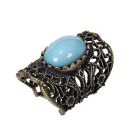 Blue Stone Cut Out Ring