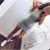 Sexy Sleeveless Bodycon Mini Short Dress