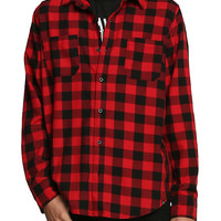 RUDE Red and Black Buffalo Check Woven