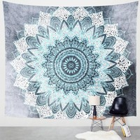Hot Vanitas Mandala Tapestry Wall Hanging Moroccan Indian Printed Decorative Wall Tapestries  144x142cm Drop Shipping