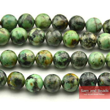 """Free Shipping Natural Stone African Turquesa Round Beads For Jewelry Making Strand 15"""" 4 6 8 10 mm Pick size ATB01"""