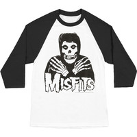Misfits Men's  Crossed Hands Baseball Jersey White/Black