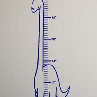 Dinosaur Growth Chart Vinyl Wall Decal Sticker by YourVinylAnswer