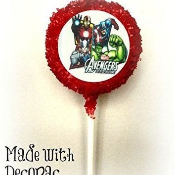 THE AVENGERS Superheroes White Chocolate Covered Oreo Cookie Pops