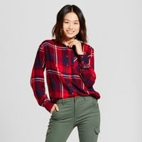 Women's Plaid Any Day Button Down Shirt - A New Day™