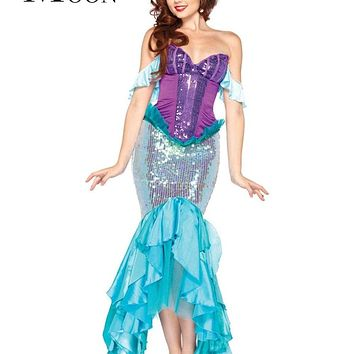 MOONIGHT Sequin Mermaid Costume Role-Playing Halloween Costume Miss Mermaid Play Costume Macchar Cosplay Catalogue