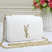 YSL Yves Saint Laurent Women Fashion Leather Shoulder Bag Crossbody